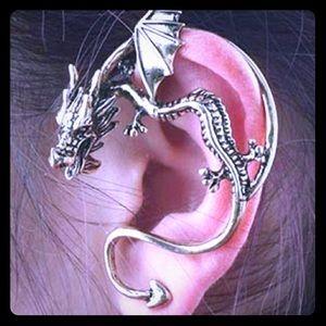 Dragon fantasy gothic retro Vintage Ear Cuff Clip